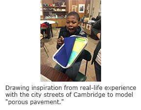 "Drawing inspiration from real-life experience with the city streets of Cambridge to model ""porous pavement."""