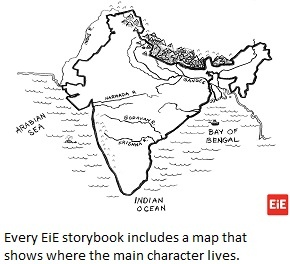 Every EiE Storybook includes a map.