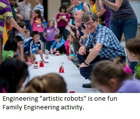 """Making """"artistic robots"""" with Family Engineering."""