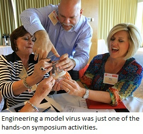 Designing a model virus, part of an EiE Engineering Everywhere activity
