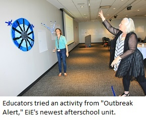 Trying to infect a model cell with model viruses, an EiE Engineering Everywhere activity