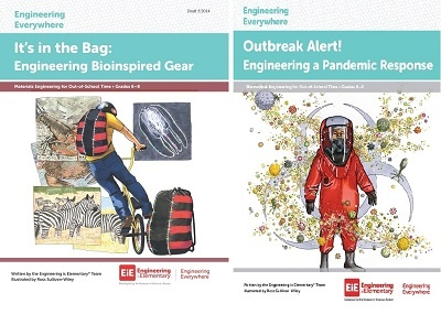 "Educator Guides for Engineering Everywhere's ""Outbreak Alert"" and ""Bioinspired Gear."""