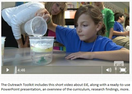 This short video about the Engineering is Elementary curriculum is part of the Outreach toolkit