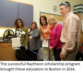 Raytheon-EiE scholarship winners at a 2015 workshop