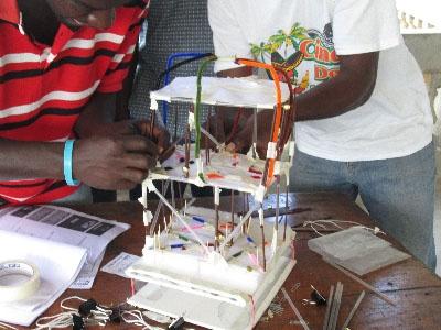 Teachers testing a model building