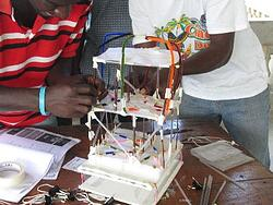 Teachers testing a model building