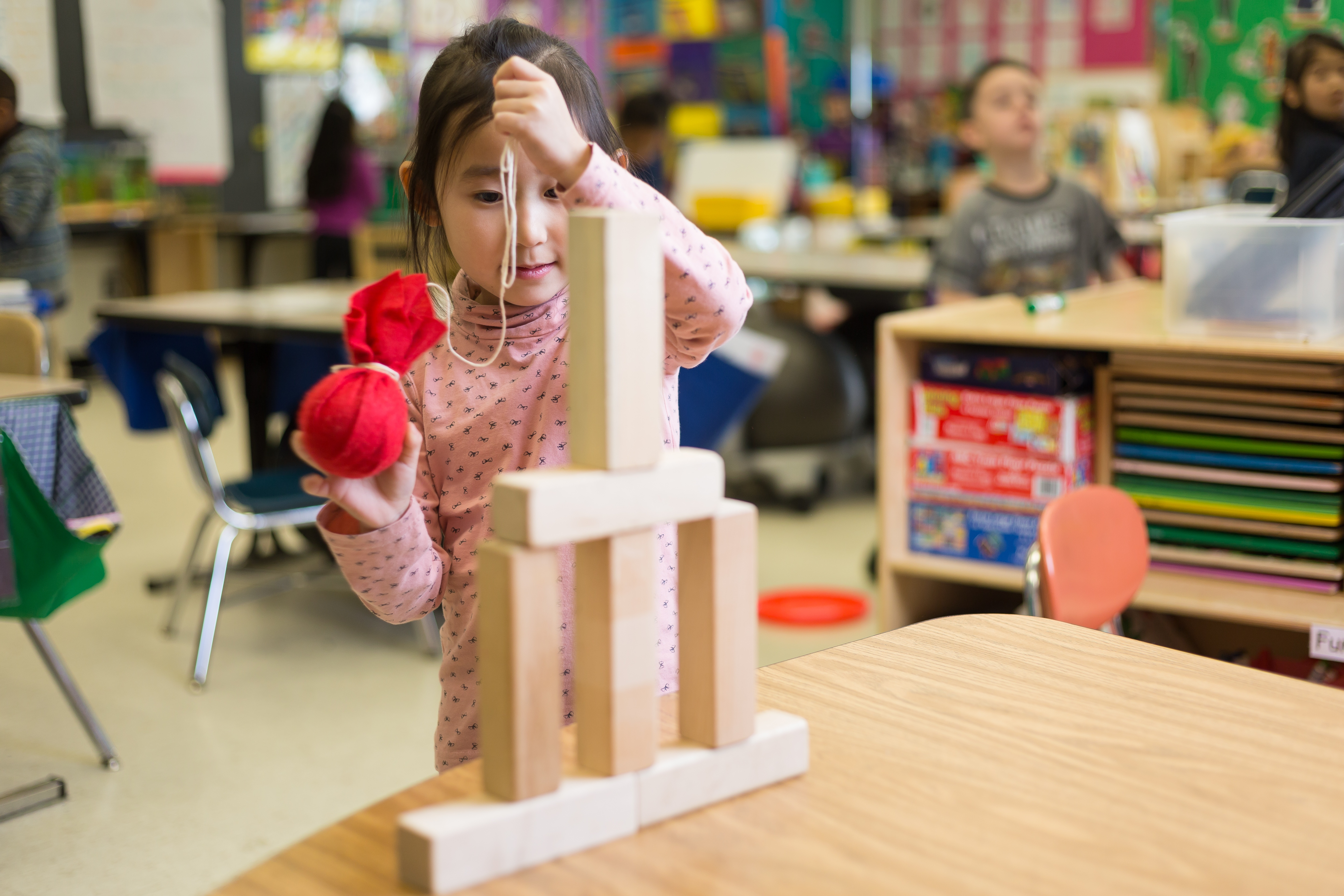Preschooler engineers a wrecking ball
