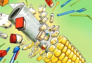 Bioplastics illustration