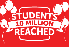 10 Million students reached!