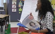 Teacher reading from a storybook