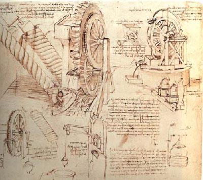 da Vinci notebook page