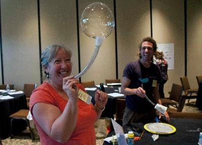 Bubble Bonanza with VT afterschool educators
