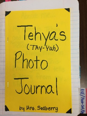 Student photo journal cover