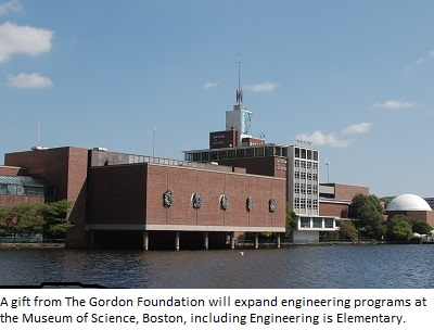 A gift from The Gordon Foundation will expand the Museum's engineering education programs, including EiE.