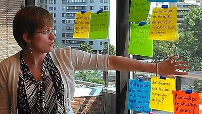Workshop participants sharing ideas
