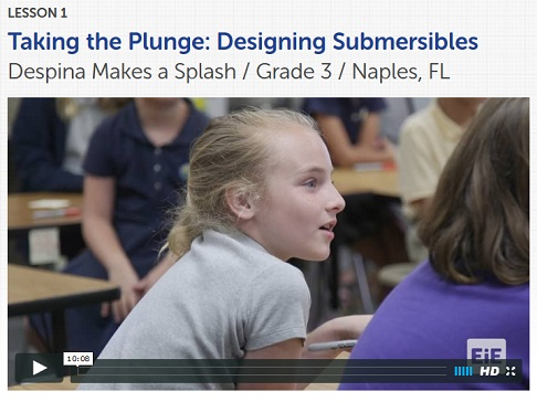 Taking the Plunge classroom video, lesson 1